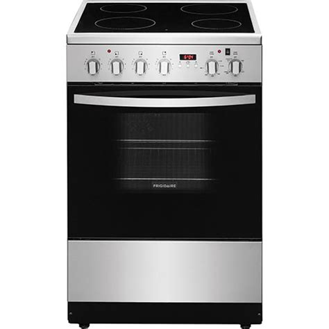 best electric kitchen ranges frigidaire 24 quot 1 9 cu ft freestanding 4 element smooth top electric range stainless steel