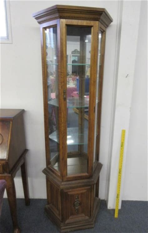 Curio Cabinets Big Lots by Lighted 6ft Curio Cabinet