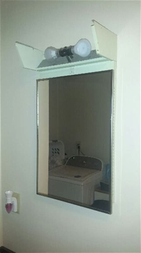 Medicine Cabinet Lighting Ideas - what can i do with the lighting on this recessed medicine