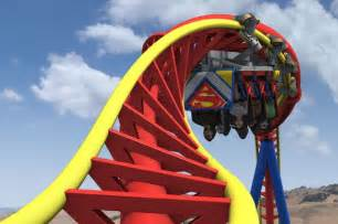 Six Flags Superman Roller Coaster Ride