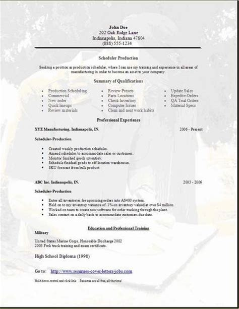 scheduler resume cover letter scheduler resume occupational exles sles free edit with word