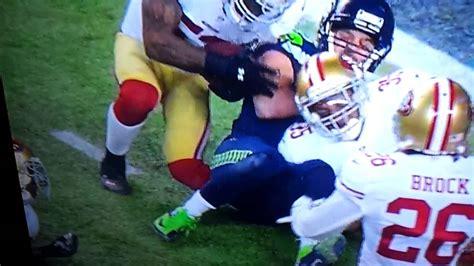 ers  seahawks leg injury youtube
