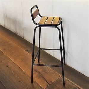 Chaise Bar Industriel : chaise de bar esprit industriel en m tal noir mat et ~ Farleysfitness.com Idées de Décoration