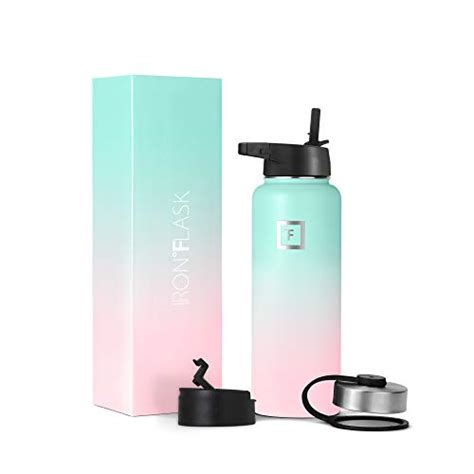 flask oz hydro gum iron bottle bubble water straw lid insulated cold double sports xobmaer walled canteen lids vacuum mouth