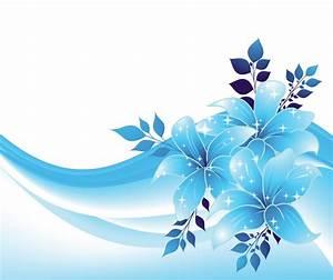 Blue Decoration with Flowers PNG Transparent Clipart ...