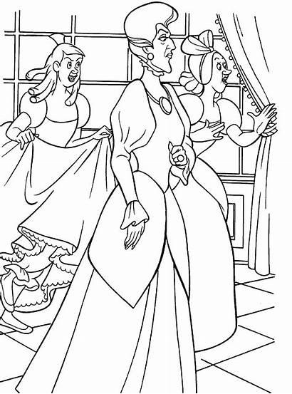 Coloring Cinderela Cinderella Desenhos Colorir Disney Sheets