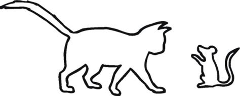 cat   mouse outline coloring page super coloring
