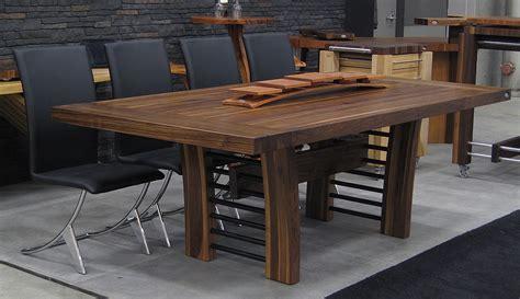 table basculante cuisine tables en bois massif signature stéphane dion