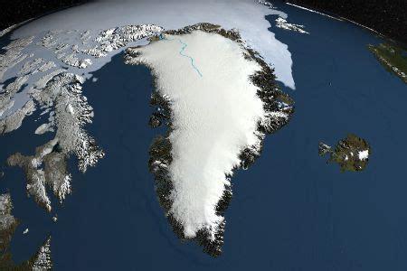 la fonte de la calotte glaciaire du groenland tres en avance
