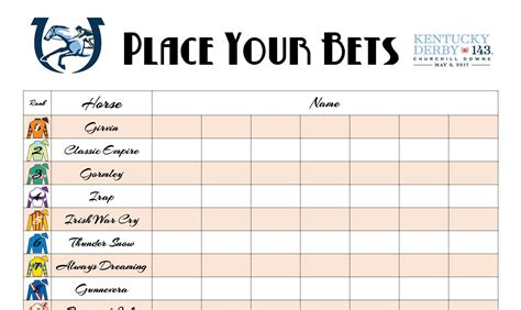kentucky derby printables   dressed table