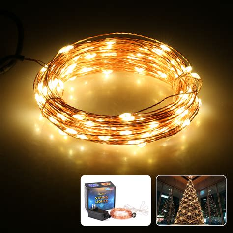 excelvan 10m 100 led copper string lights warm white