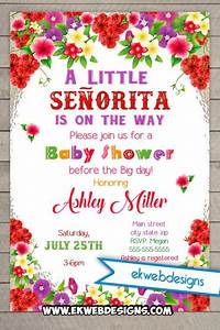 Custom Printable Little Senorita Fiesta Baby Shower