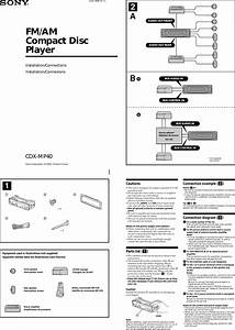 Sony Cdx Mp40 Wiring Diagram