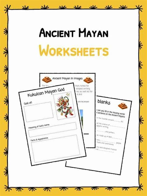 ancient mayan worksheets facts kidskonnect