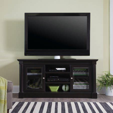 tv credenza black sauder palladia waxed black entertainment credenza for tvs