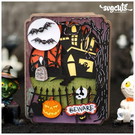 fright night halloween card  brigit mann svgcutscom blog