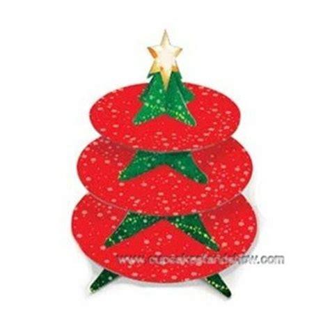 christmas tree cupcake holder cardboard cupcake stand