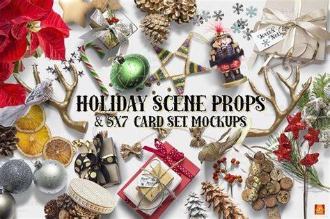 holiday props cardset mockups   images card