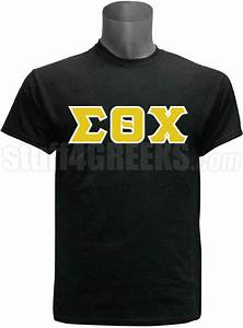 sigma theta chi greek letter screen printed t shirt black With sigma chi letter shirt