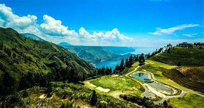 Indonesia Sumatra Nature Places Landscape Toba Lake