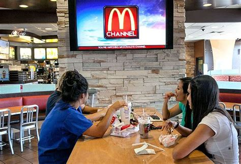 mcdonalds puts  television channel   fast food