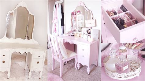 diy shabby chic bathroom vanity diy vanity shabby chic vanity makeover youtube
