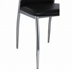 Stühle Esszimmer Schwarz : esszimmer st hle 4er set schwarz chrom kunstleder de ~ Michelbontemps.com Haus und Dekorationen