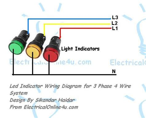 Indicator Light Wiring Diagram by Light Indicator Wiring Diagrams For 3 Phase Voltage Coming