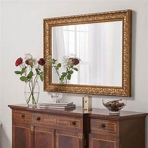 Ornate, Gold, Finished, Rectangular, Wall, Mirror
