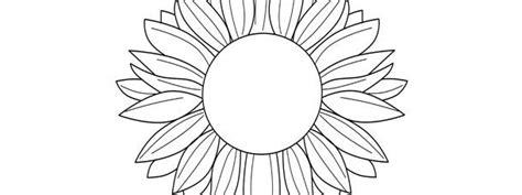 sunflower template large sunflower template sunflower
