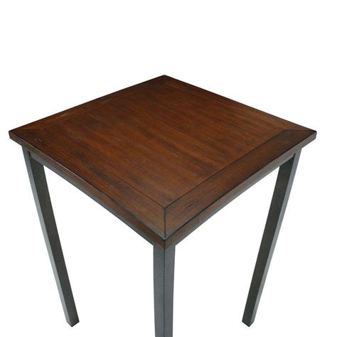 pub bar table distressed chestnut finish wood rustic