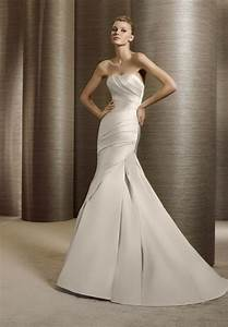 satin wedding dress with mermaid silhouette sang maestro With satin mermaid wedding dress
