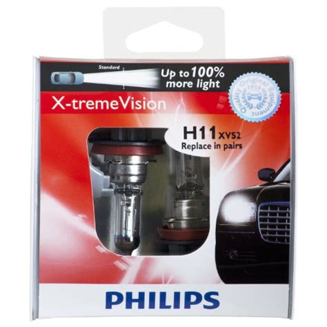 philips h11 x tremevision upgrade headlight bulb pack of