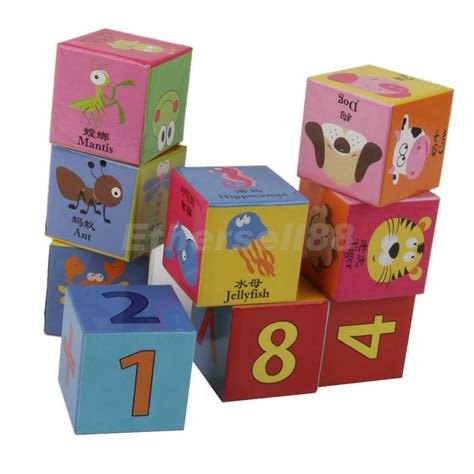 9pcs colorful building blocks preschool wooden child 244 | s l1000