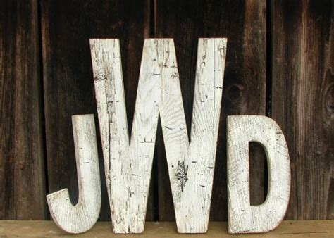 distressed wood letters 73 best images about initial decorations on