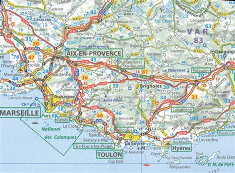 southern france map  michelin  maps books