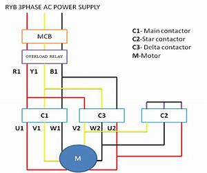 Hyderabad Institute Of Electrical Engineers  Power Circuit Diagram Of Star Delta Starter