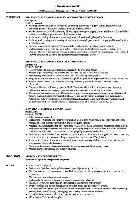 Pharmacy Technician Resume   IPASPHOTO