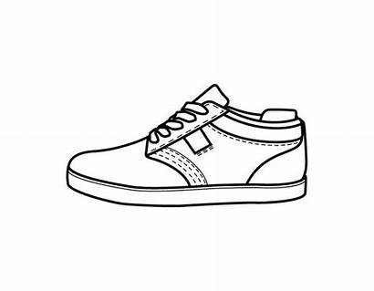 Coloring Pages Shoe Shoes Printable Template Sheets