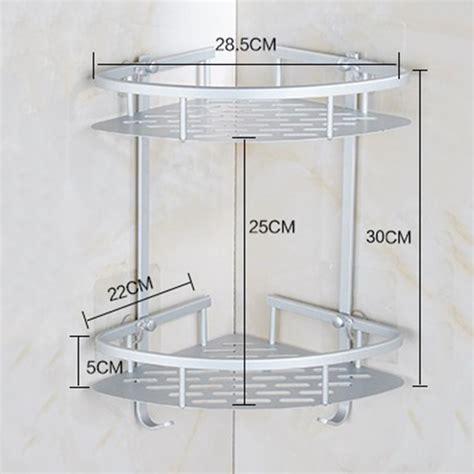 drilling bathroom corner shelves aluminum  tier