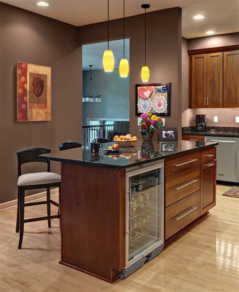 kitchen island with wine fridge pictures also outstanding