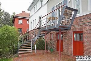 metallbau fritz aussentreppe wendeltreppe 08 05 With französischer balkon mit treppe zum garten
