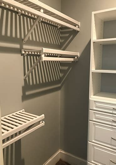 Ventilated Wood Closet Shelving by Gregory Wood Products