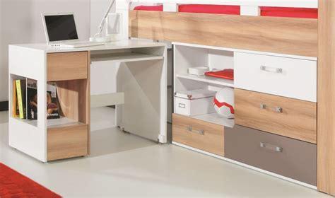 lit mezzanine combiné bureau mobilier d 39 intérieur et salons de jardin design et