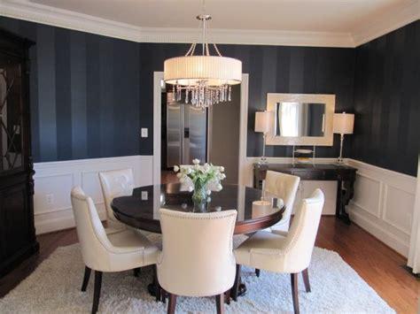 dazzling dining room designs  striped walls