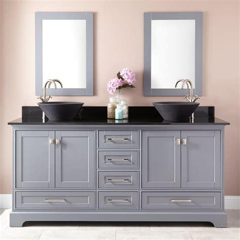 gray double sink vanity 72 quot quen double vessel sink vanity gray double sink