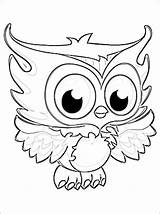 Owl Coloring Owls sketch template