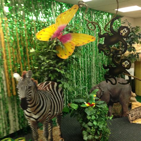 vbs jungle theme decorations pta carnival jungle