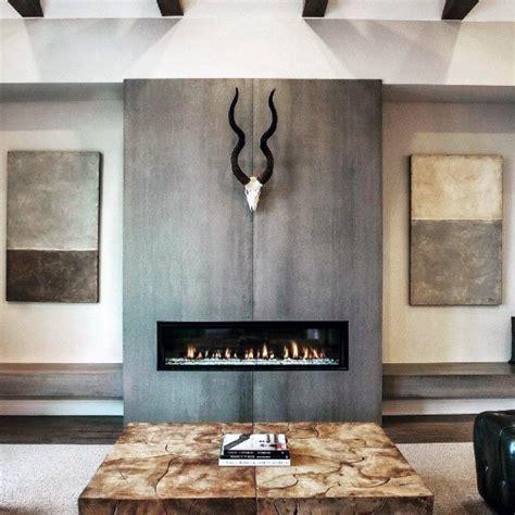 Top 60 Best Concrete Fireplace Designs   Minimalistic