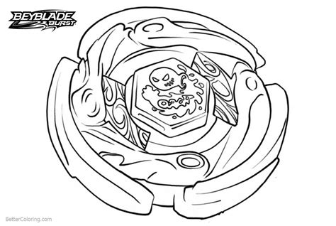 Beyblade Burst Coloring Pages With Waves